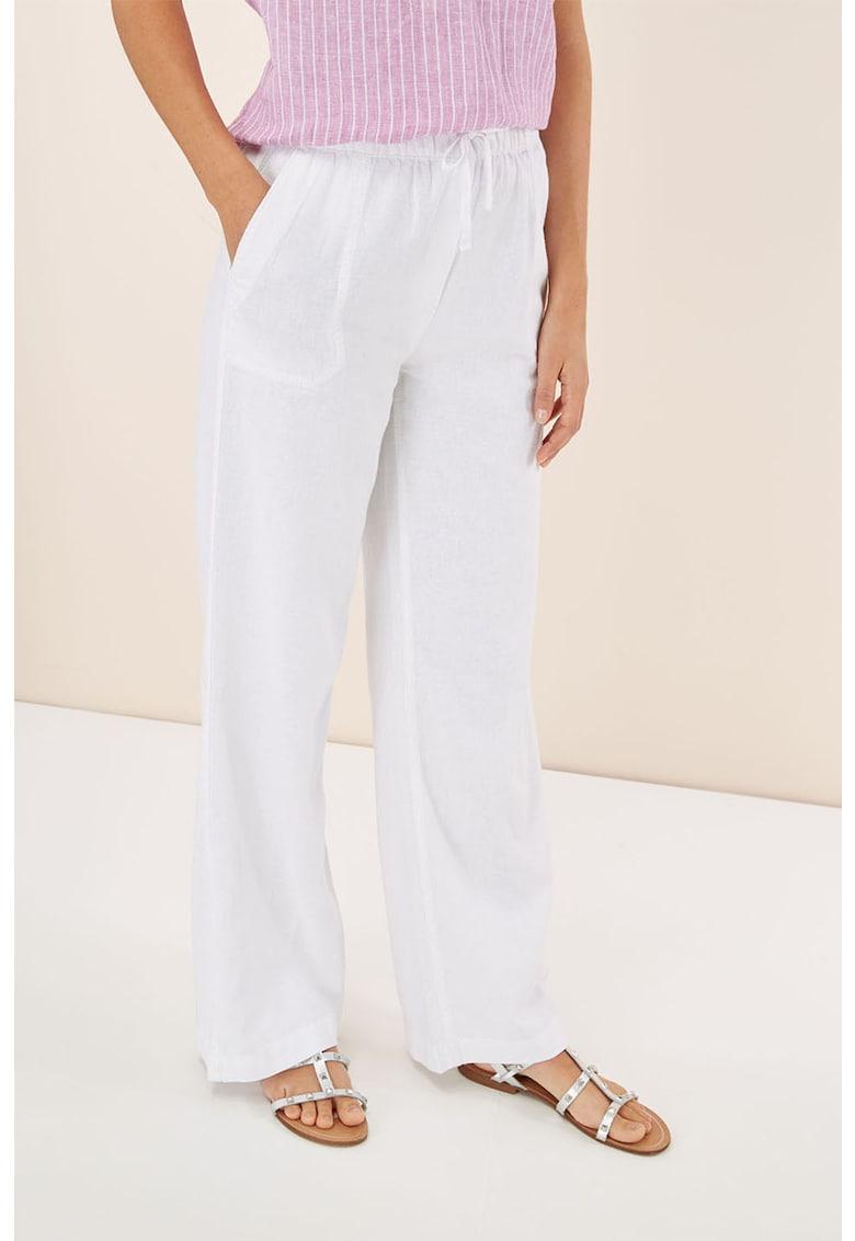 Pantaloni din amestec de in cu croiala ampla thumbnail