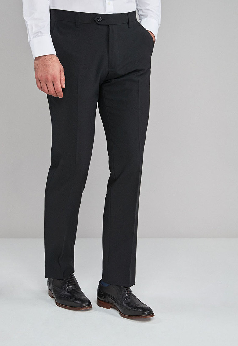 Pantaloni eleganti tailored fit cu pensa NEXT