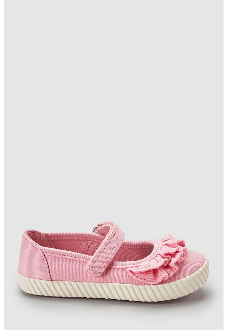 Pantofi Mary Jane cu volane
