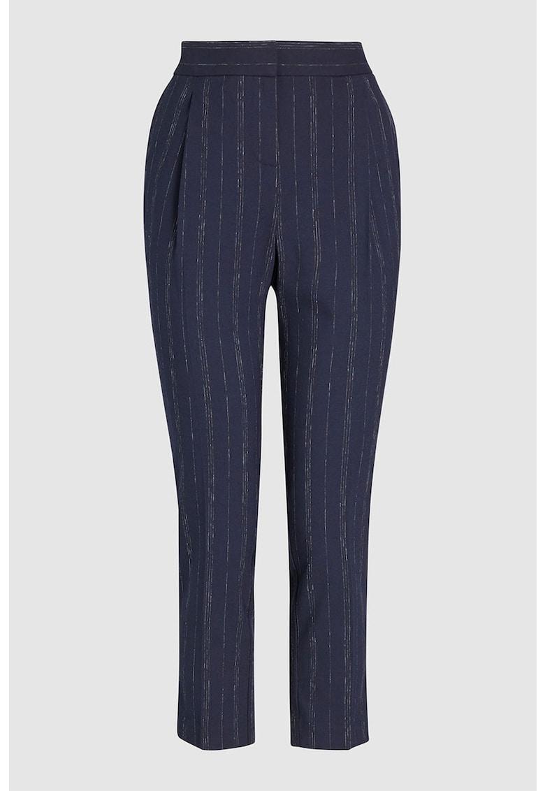 Pantaloni conici cu insertii de fir lucios