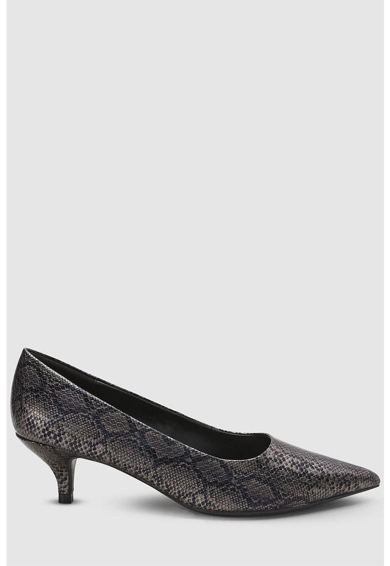 Pantofi de piele ecologica cu model reptila NEXT
