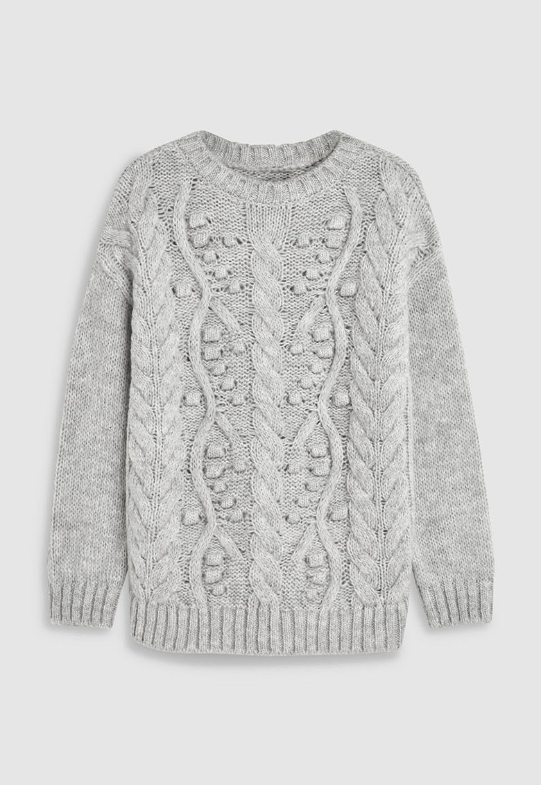 Pulover cu detalii din tricot gros