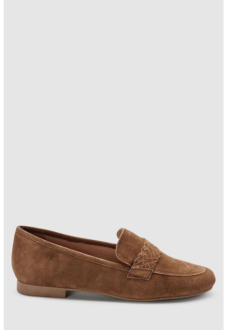 Pantofi loafer de piele intoarsa