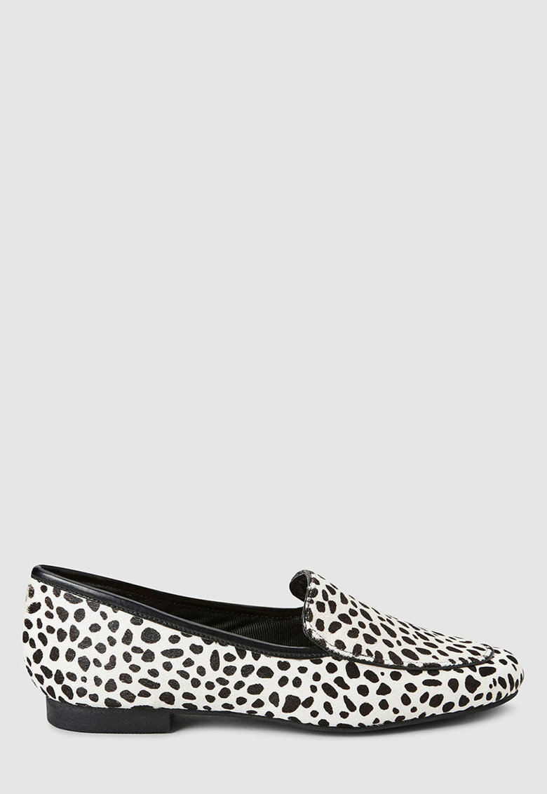 Pantofi loafer de piele cu par scurt NEXT