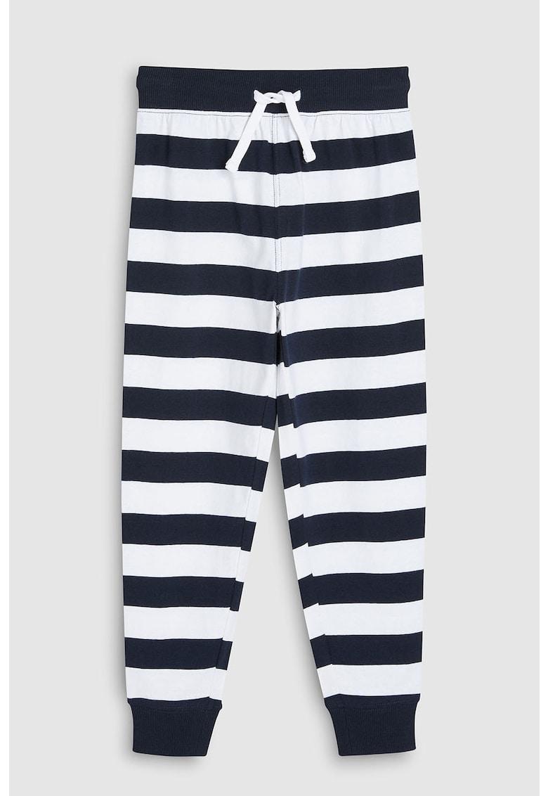 Set de pijamale cu imprimeu text si dungi – 2 perechi de la NEXT