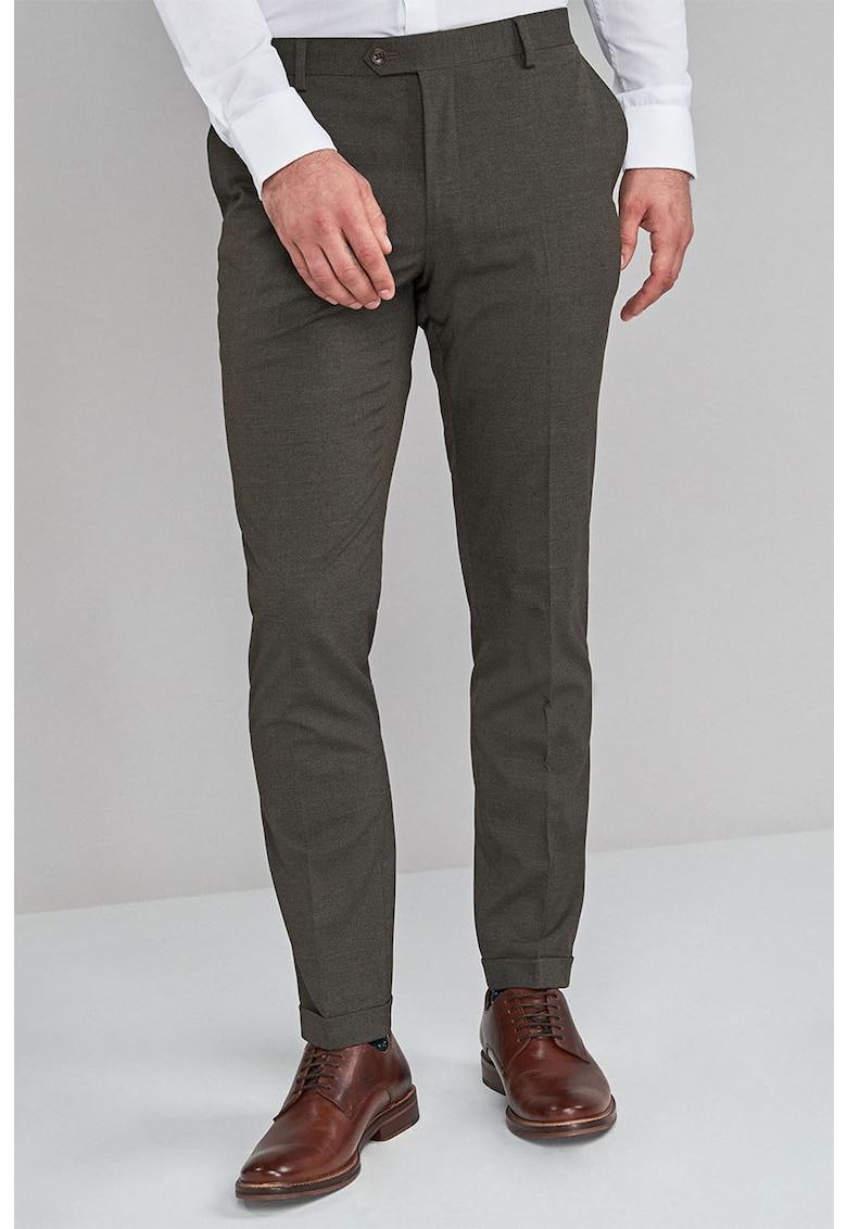 Pantaloni eleganti cu croiala skinny si pensa de la NEXT