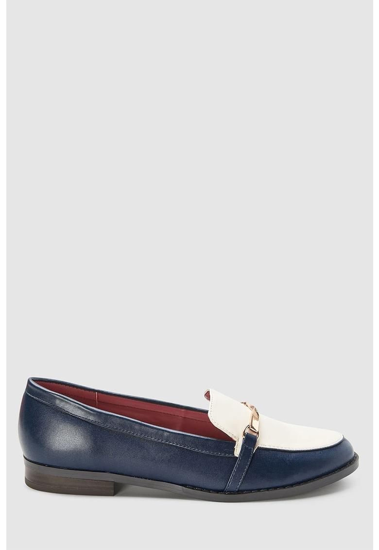 Pantofi loafer de piele ecologica cu detaliu rasucit de la NEXT