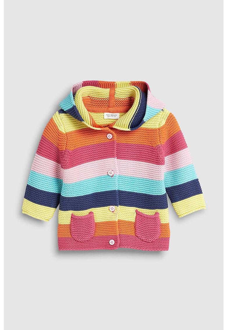 Cardigan din tricot in dungi cu nasturi