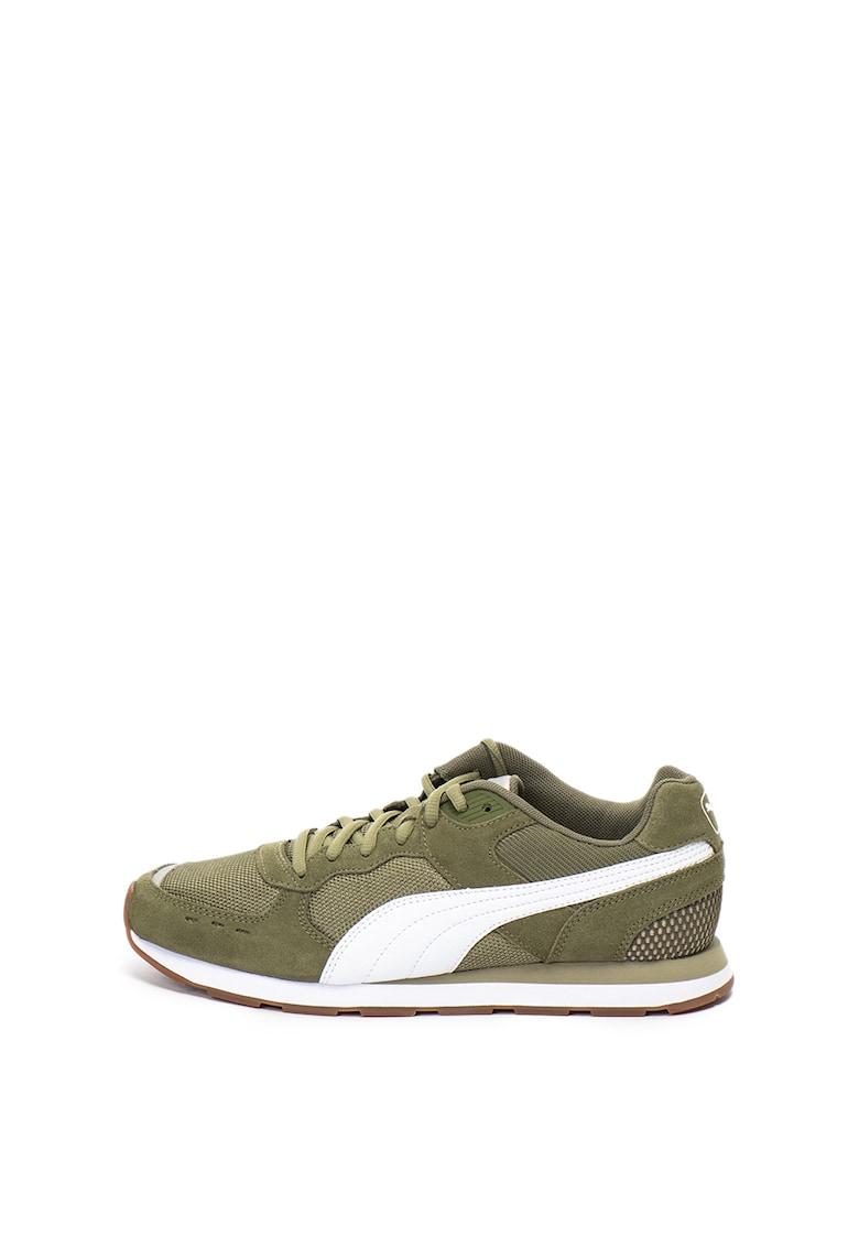 Pantofi sport de piele intoarsa cu insertii de plasa Vista