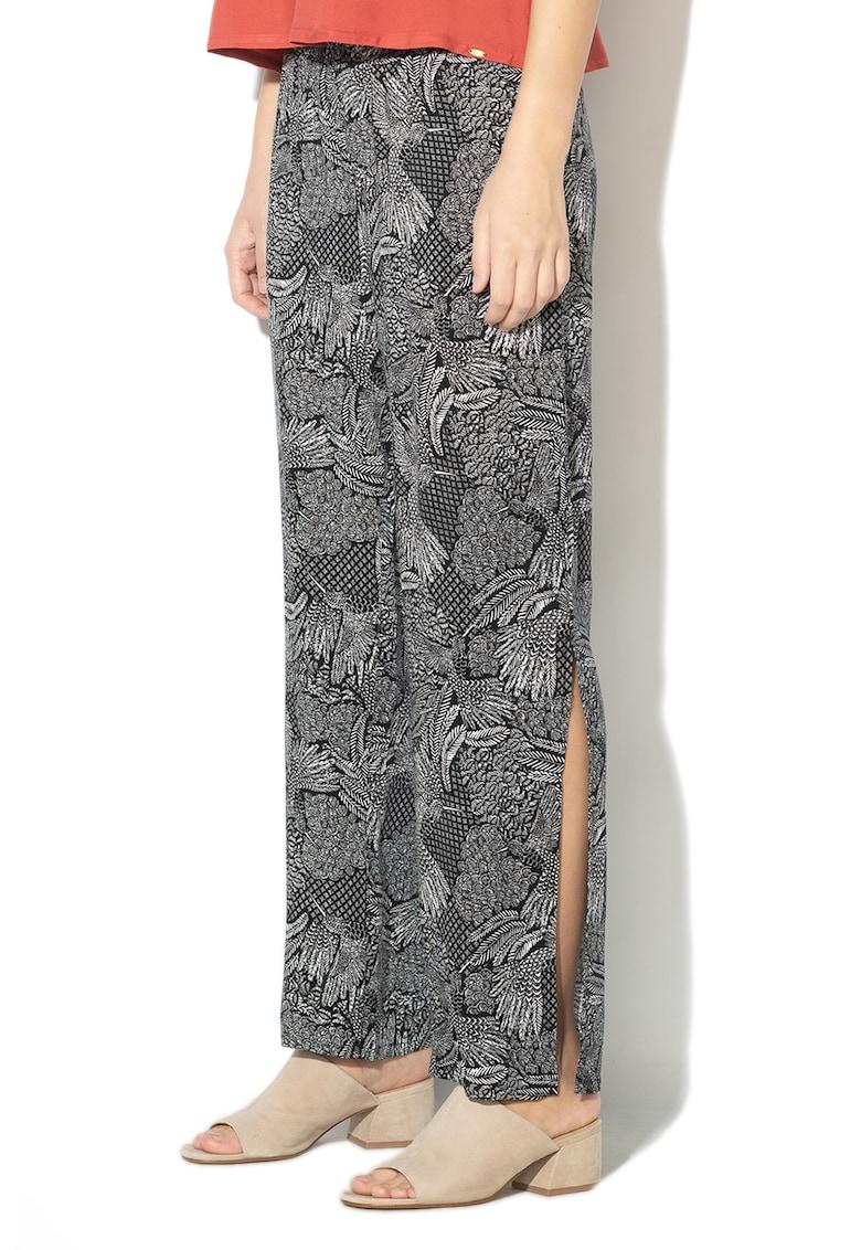 Pantaloni de plaja cu imprimeu si slituri laterale Skiny imagine 2021