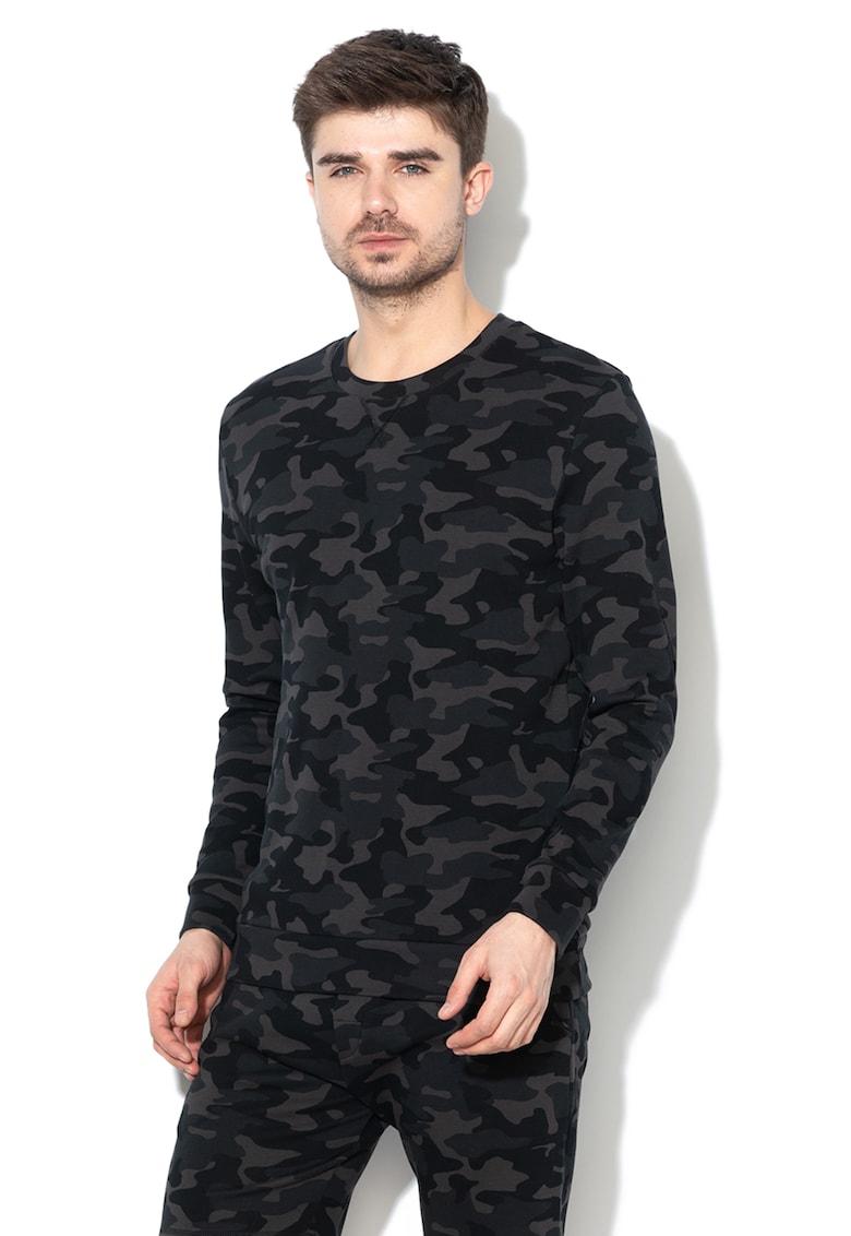 Bluza de casa - cu imprimeu camuflaj