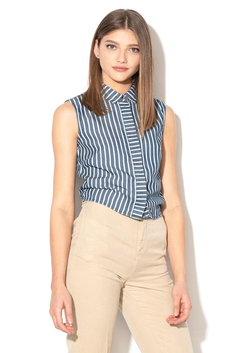 Bluza fara maneci cu detaliu innodat pe partea din spate fashiondays.ro