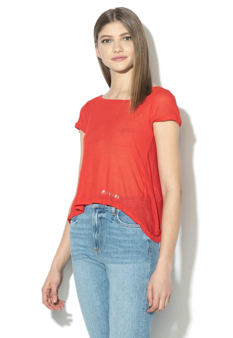 Bluza din modal cu model suprapus pe partea din spate