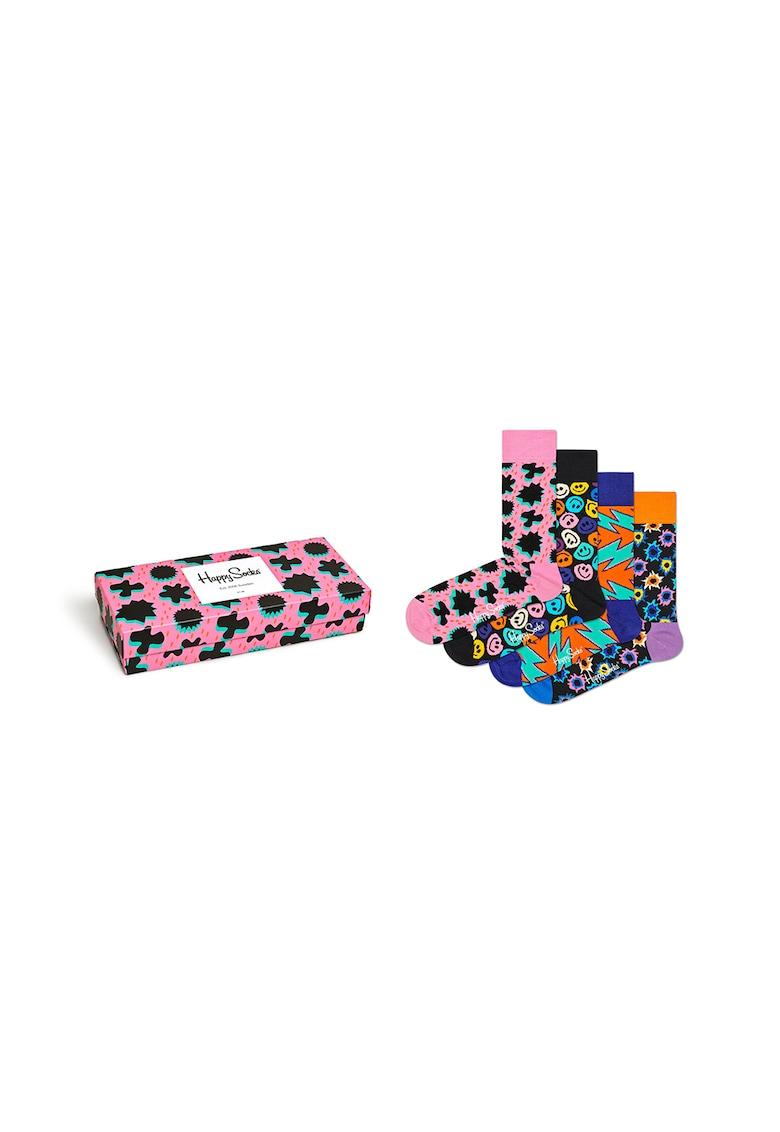 Set de sosete unisex cu imprimeu – 4 perechi de la Happy Socks