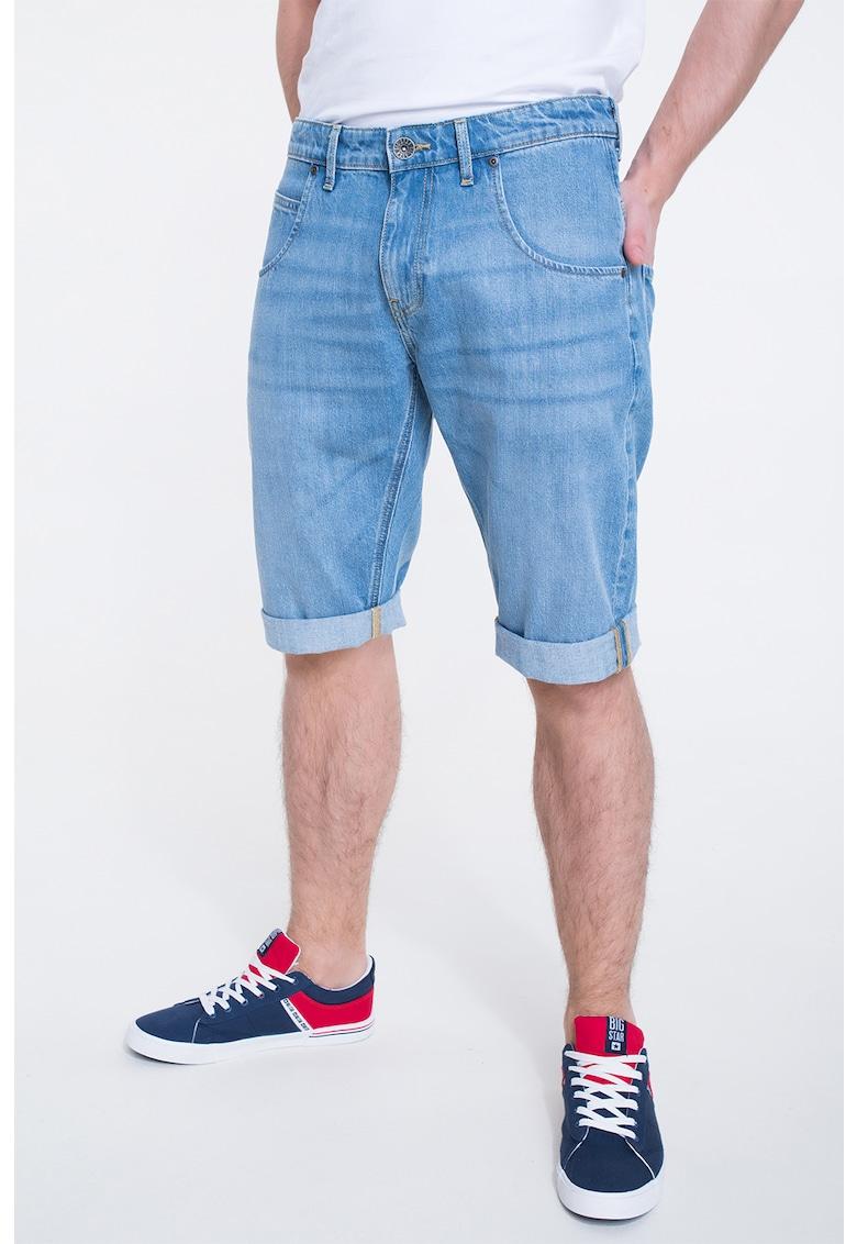 Pantaloni scurti din denim cu talie medie