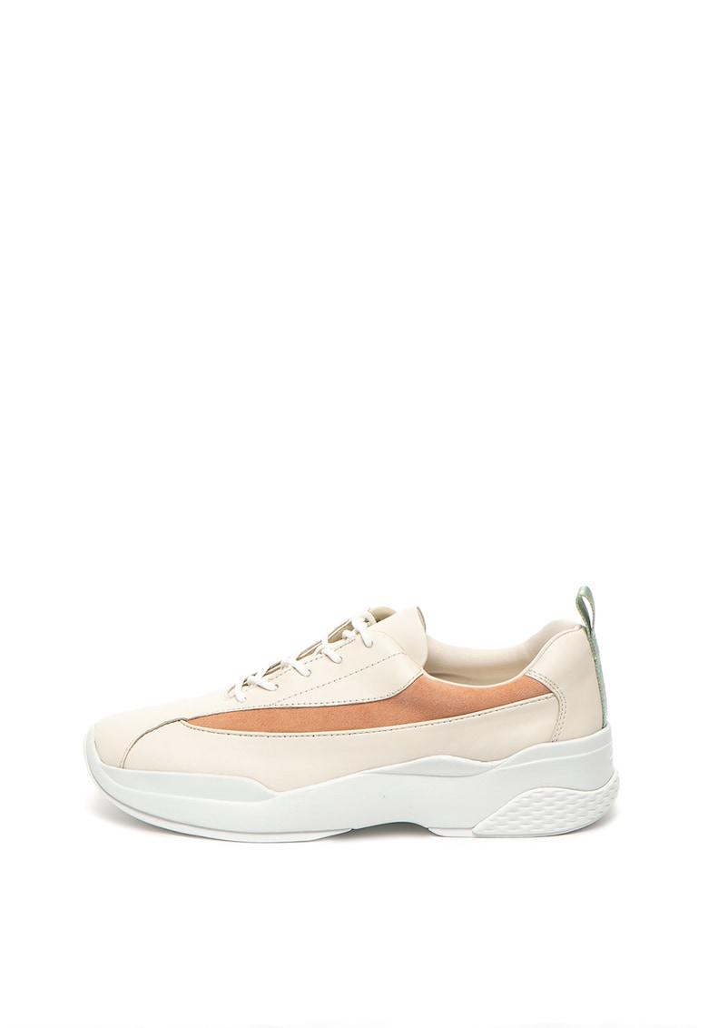 Pantofi sport de piele cu garnituri de piele intoarsa Lexy imagine