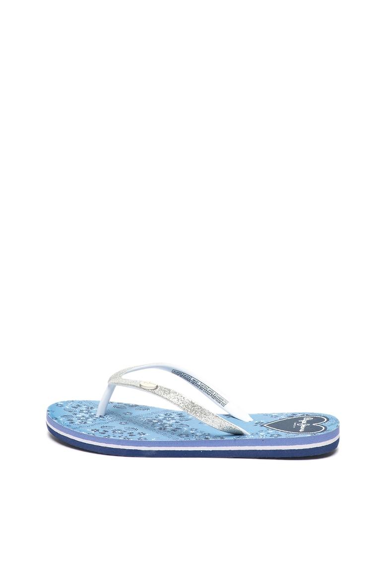 Papuci flip-flop cu particule stralucitoare Beach Bandana