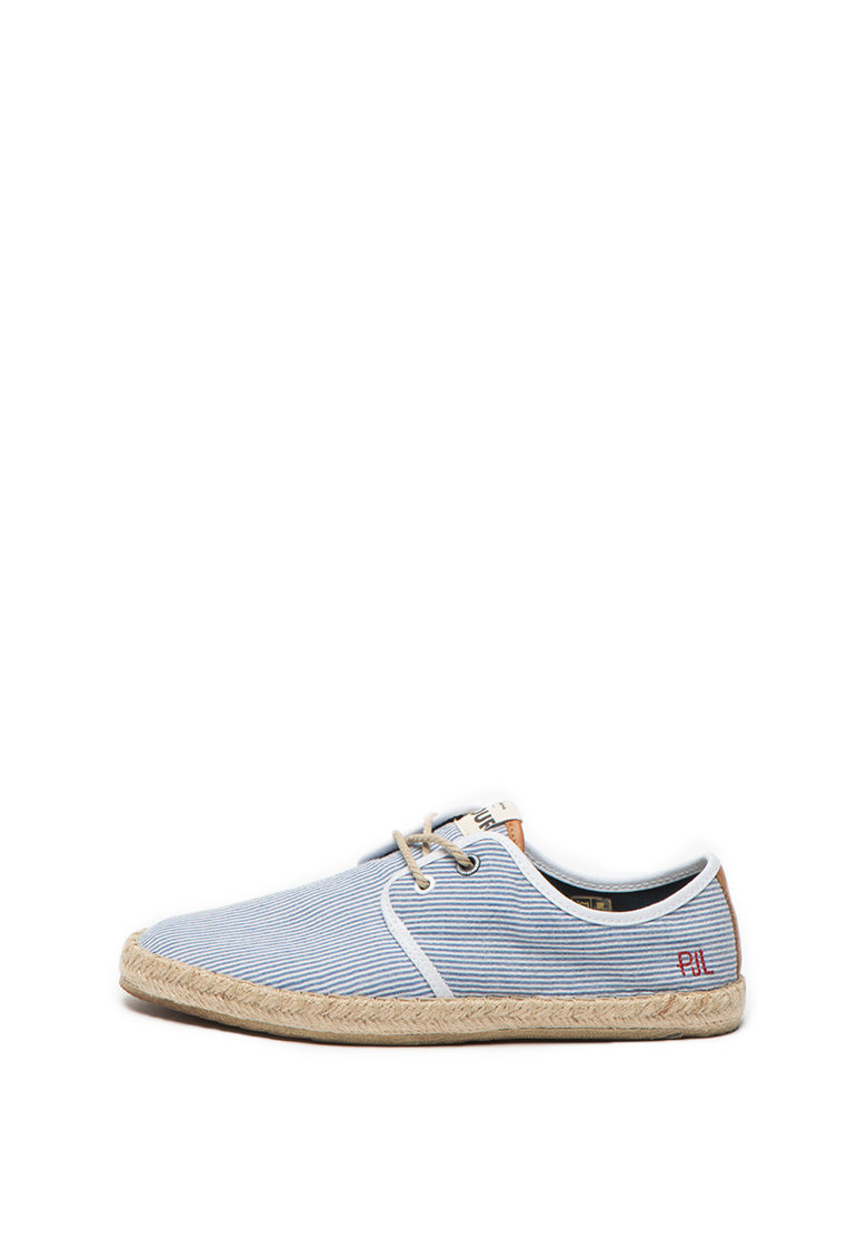 Pantofi casual cu model in dungi Tourist de la Pepe Jeans London