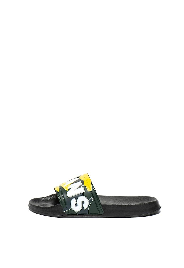 Papuci cu imprimeu logo Slider de la Pepe Jeans London