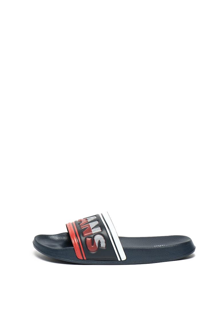 Papuci cu logo in relief Slider de la Pepe Jeans London
