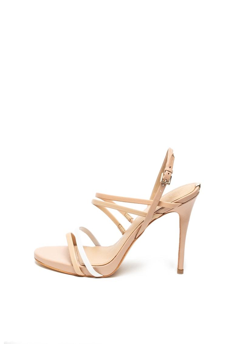 Sandale stiletto de piele