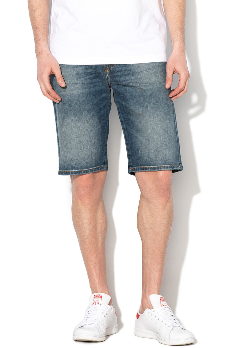 Bermude slim fit cu aspect decolorat Thoshort de la Diesel