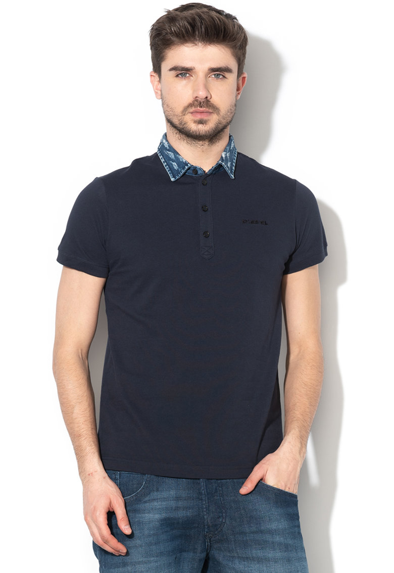 Tricou polo slim fit Miles imagine