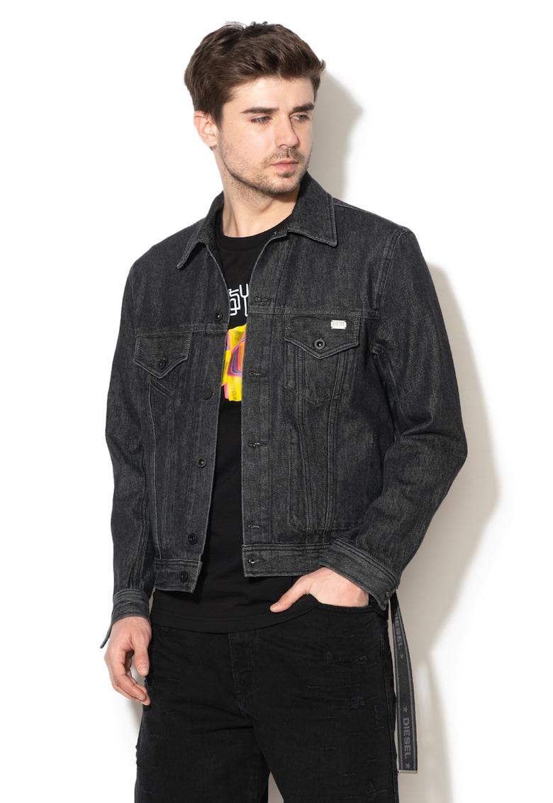 Jacheta din denim cu buzunare pe piept Bray