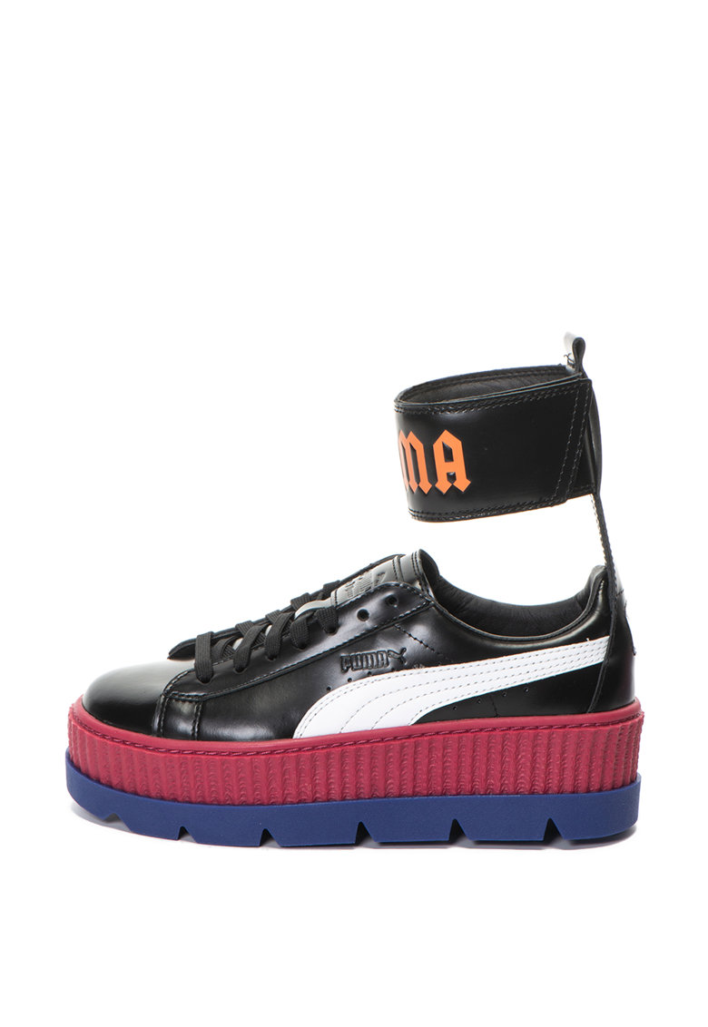 Pantofi sport wedge de piele cu bareta pe glezna Fenty x Puma