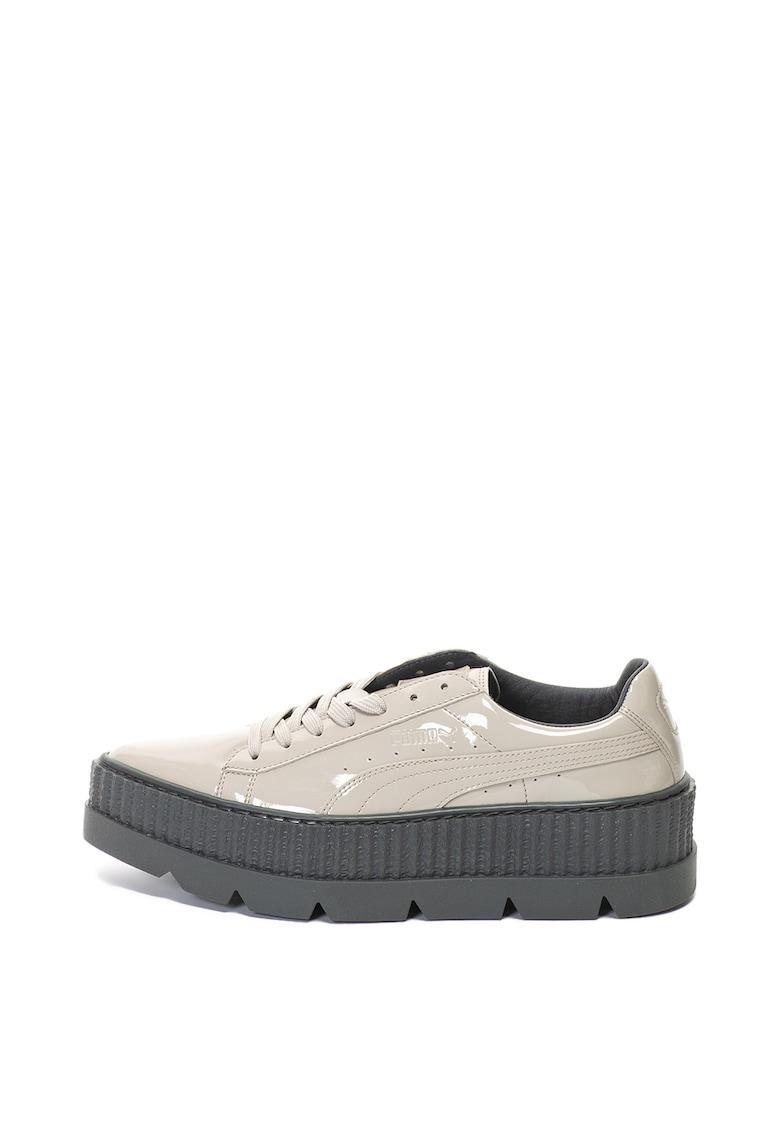 Pantofi flatform de piele ecologica lacuita Pointy Creeper Puma x Fenty de la Puma