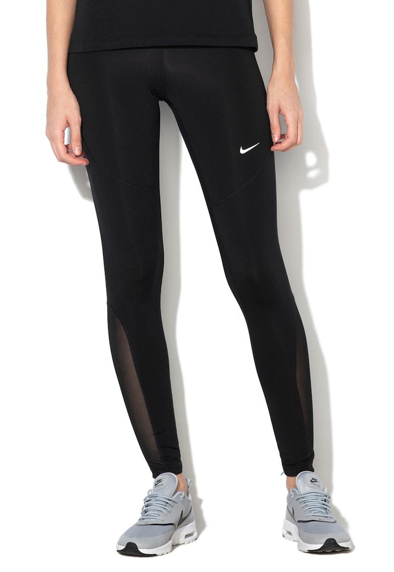 Colanti tight fit cu detalii logo - pentru fitness Nike imagine 2021