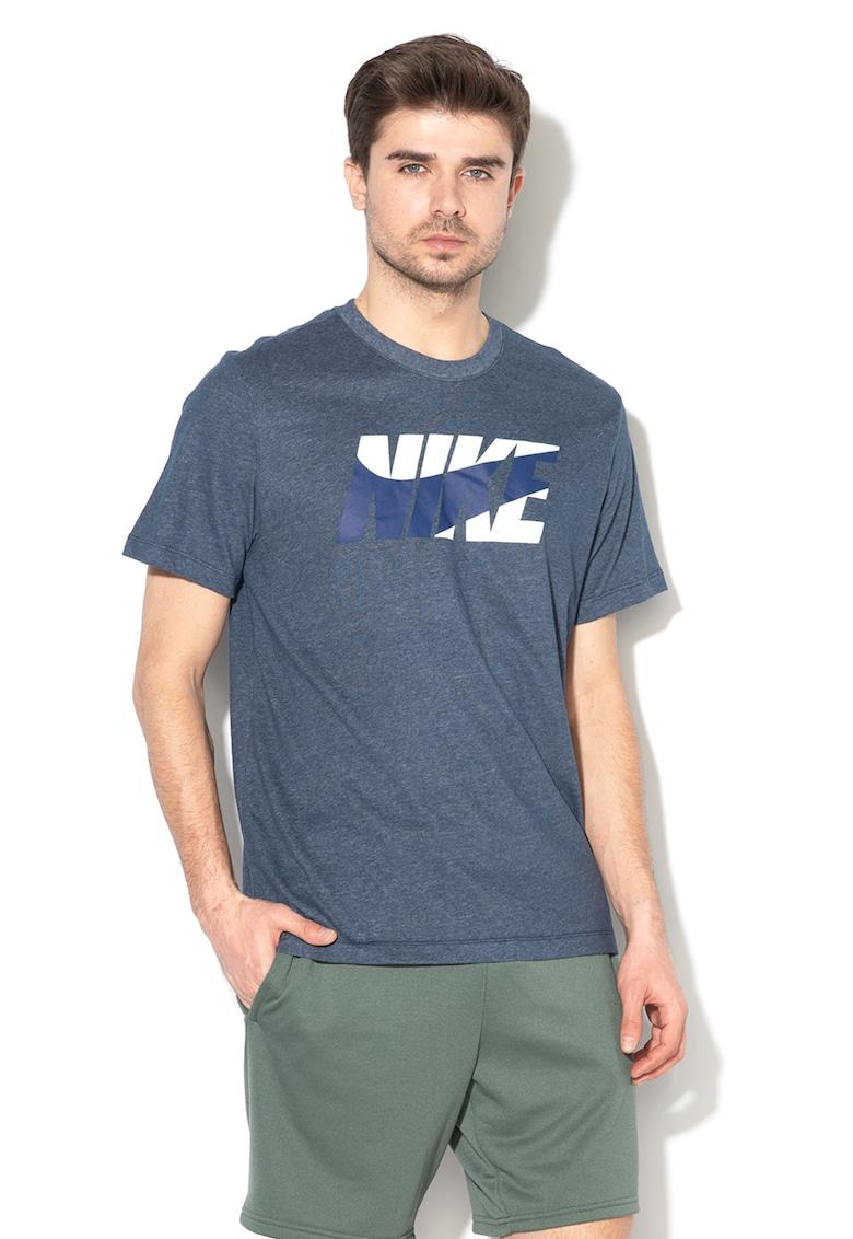 Tricou cu imprimeu logo pentru antrenament Dri Fit
