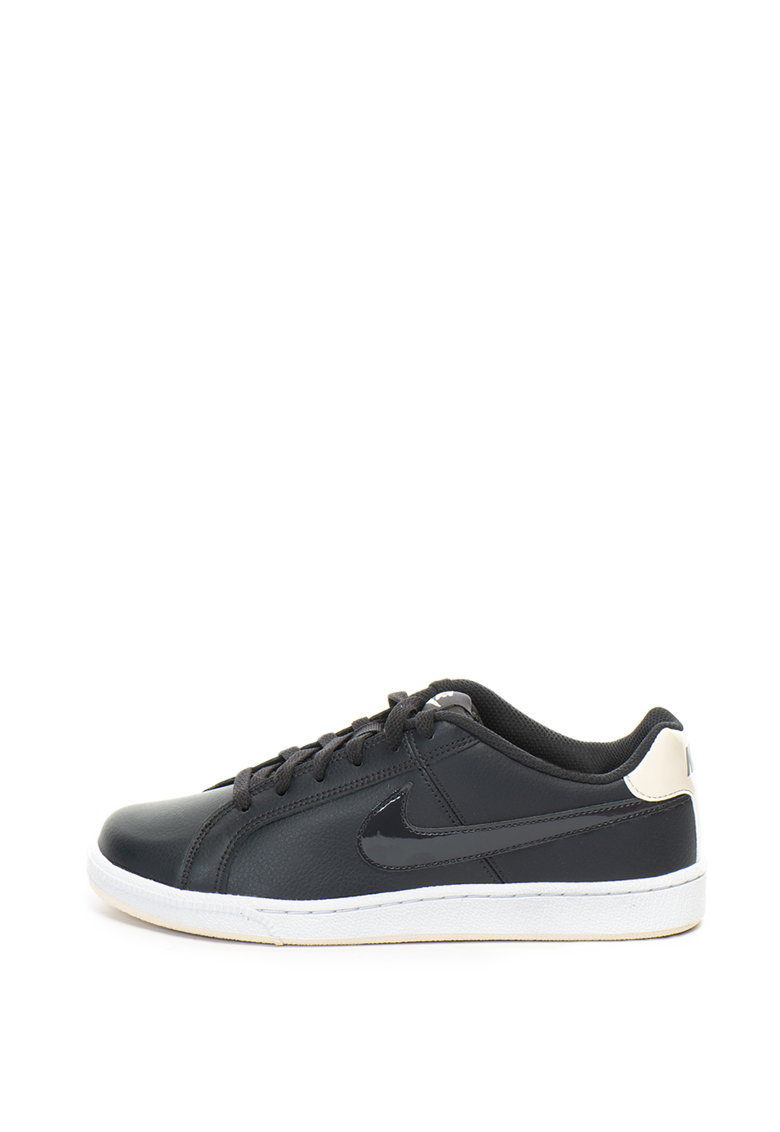 Pantofi sport cu logo cu aspect lacuit Court Royale Nike