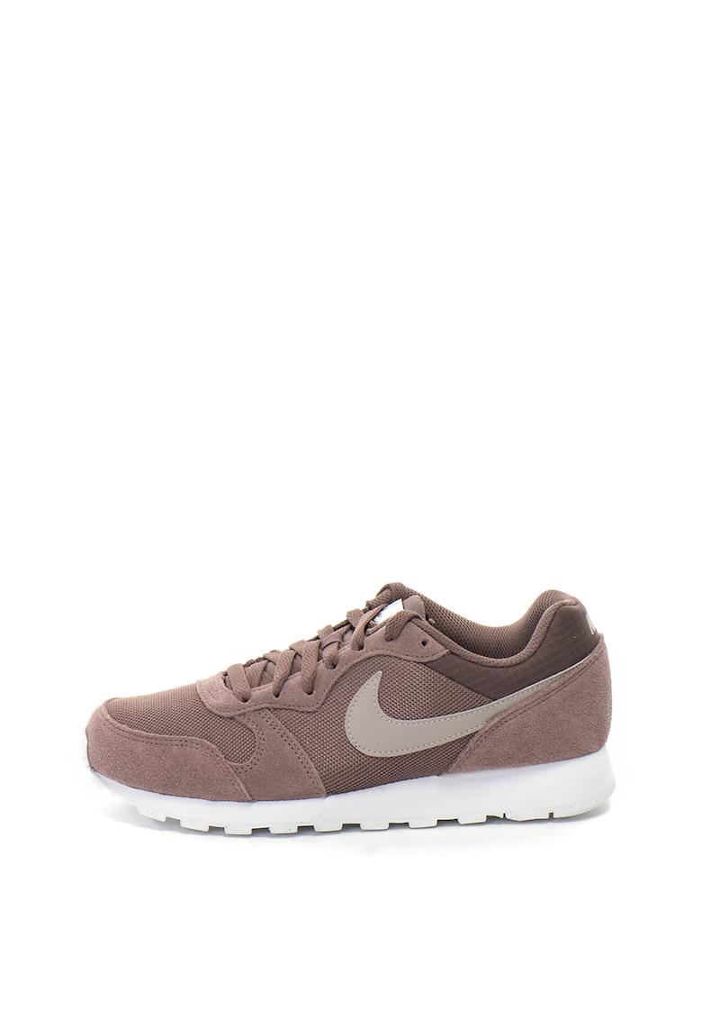 Pantofi sport din material textil si piele intoarsa MD Runner 2