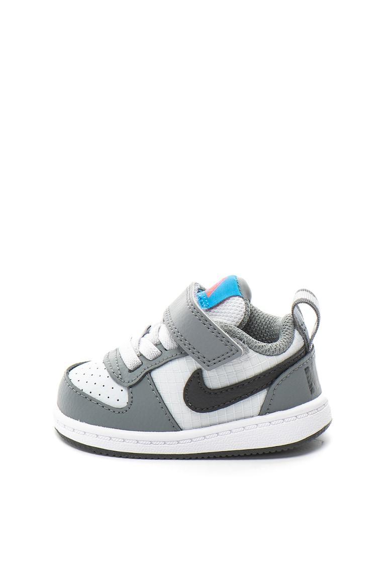 Pantofi sport cu garnituri de piele Court Borough Low
