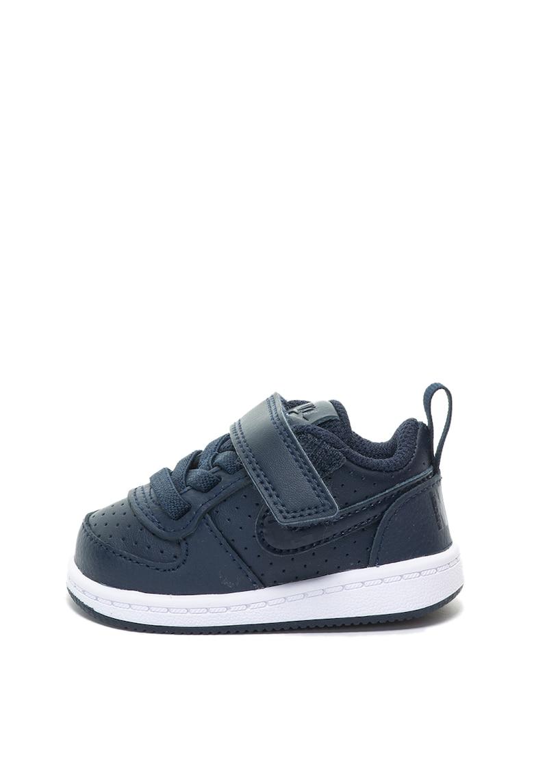 Pantofi sport de piele cu talpa plata Court Borough