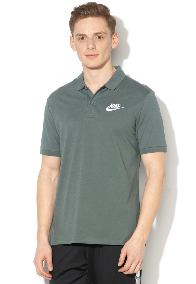 Tricou polo cu broderie logo Nike