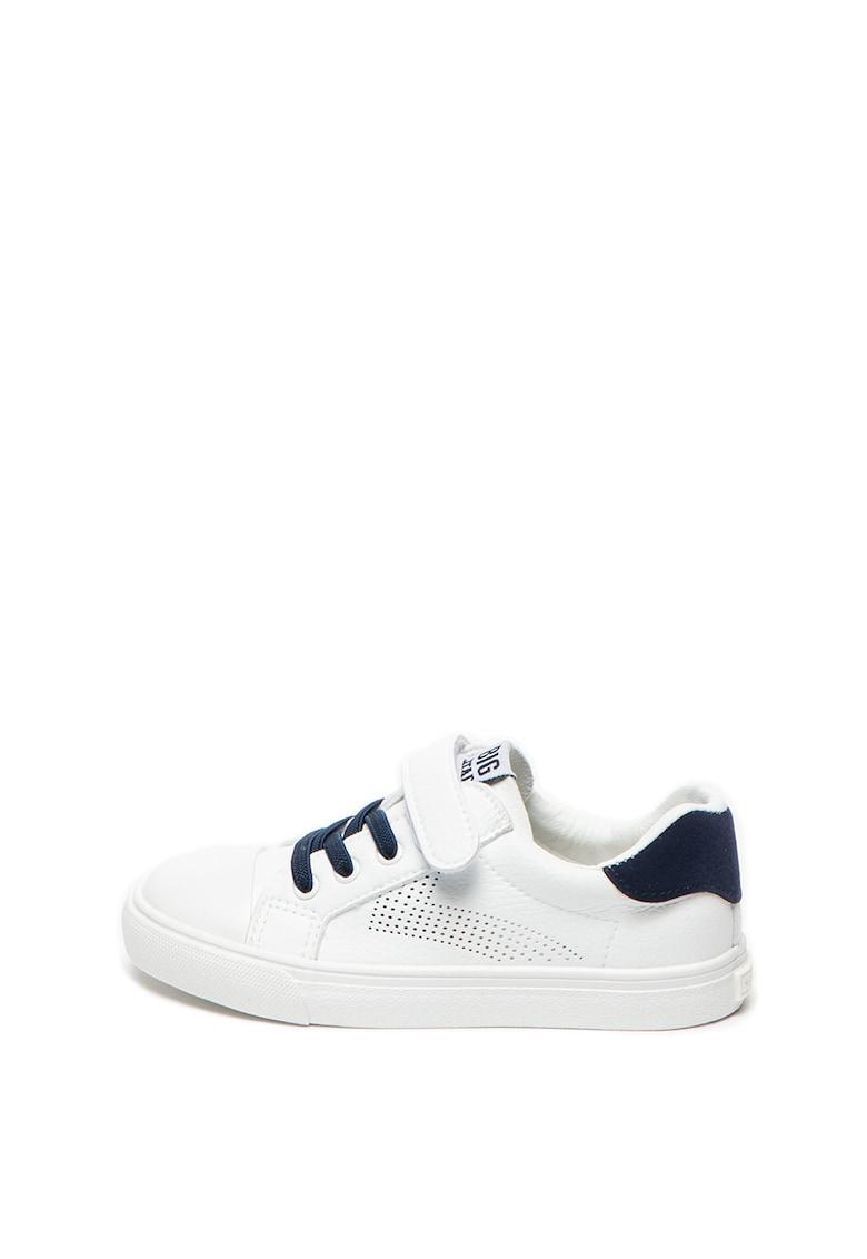 Pantofi sport de piele ecologica cu velcro