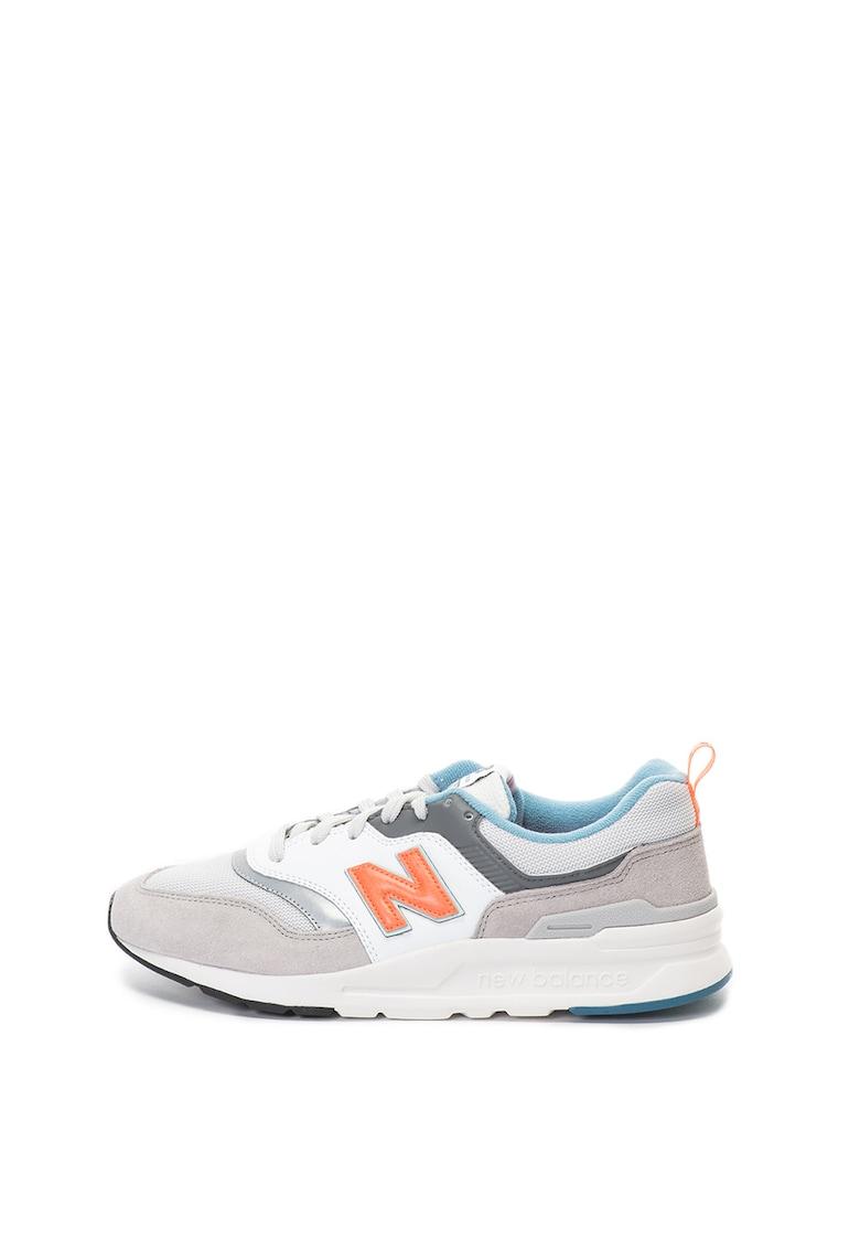 Pantofi sport de piele si plasa 997H
