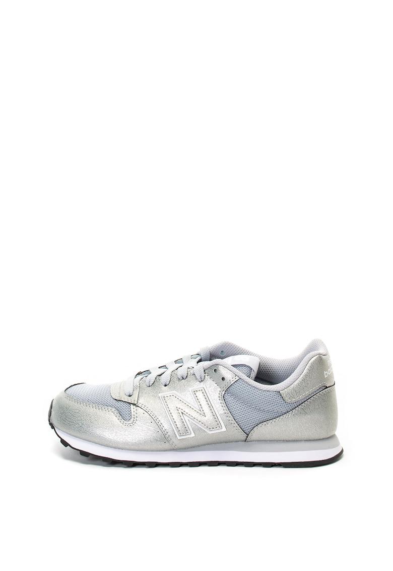 Pantofi sport de piele ecologica - cu logo 500
