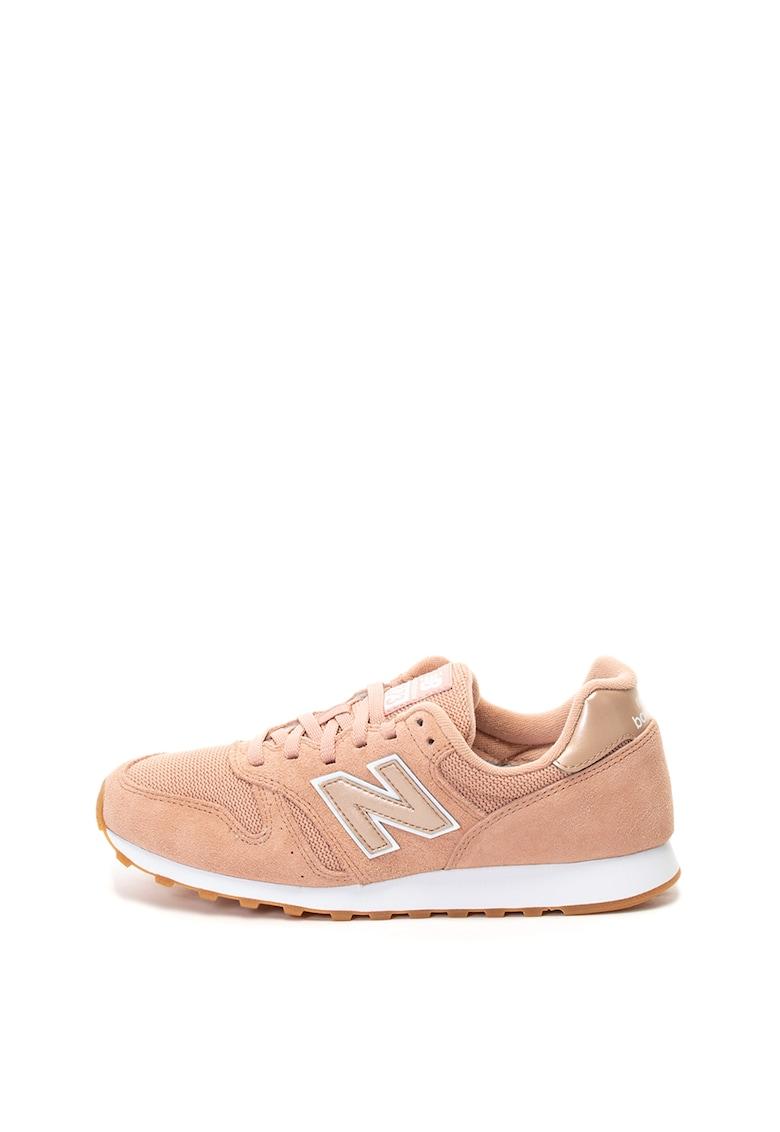 Pantofi sport cu insertii de piele intoarsa 373
