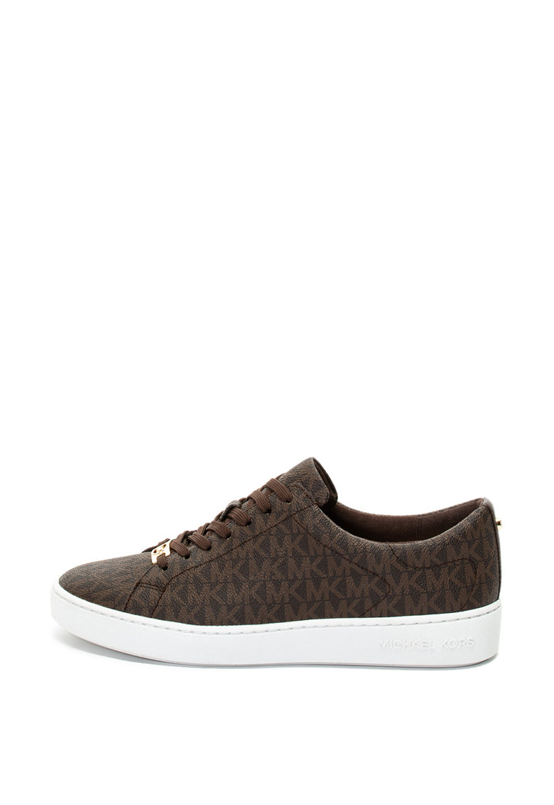 Pantofi sport de piele ecologica - cu model logo Keaton Michael Kors fashiondays.ro