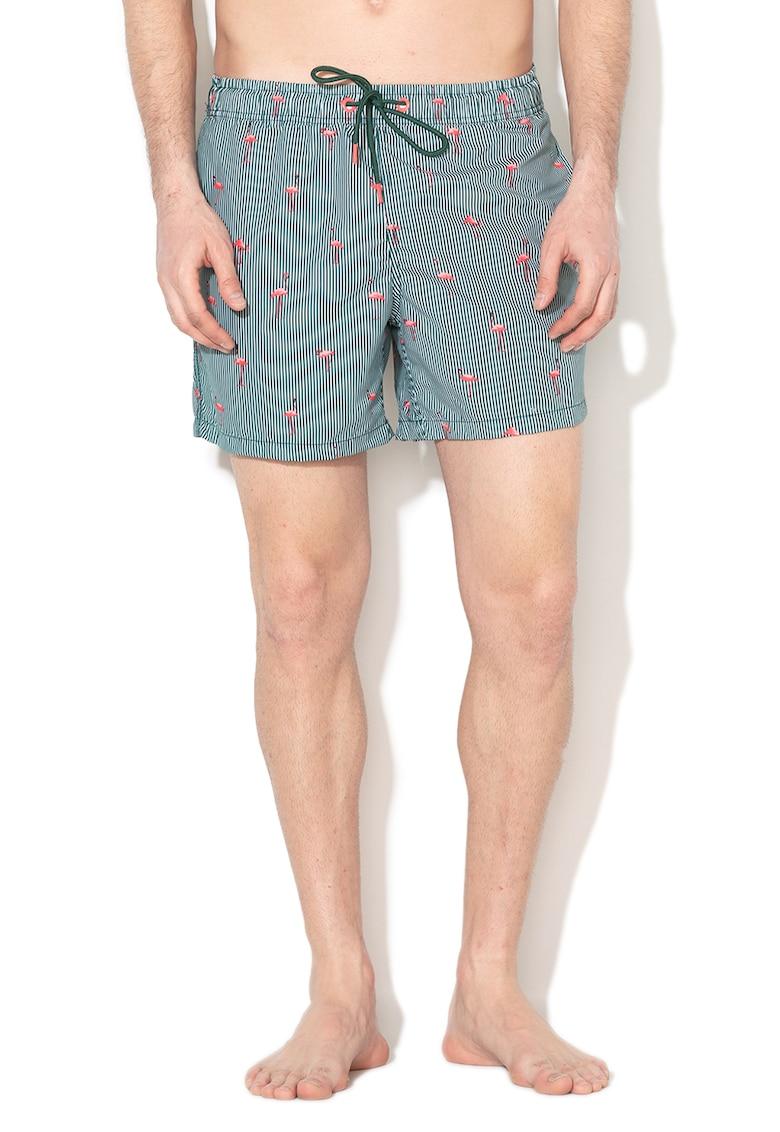 Pantaloni scurti de baie cu imprimeu imagine fashiondays.ro 2021