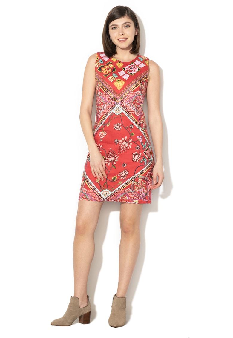 Rochie mini cu imprimeu floral Lisa DESIGUAL
