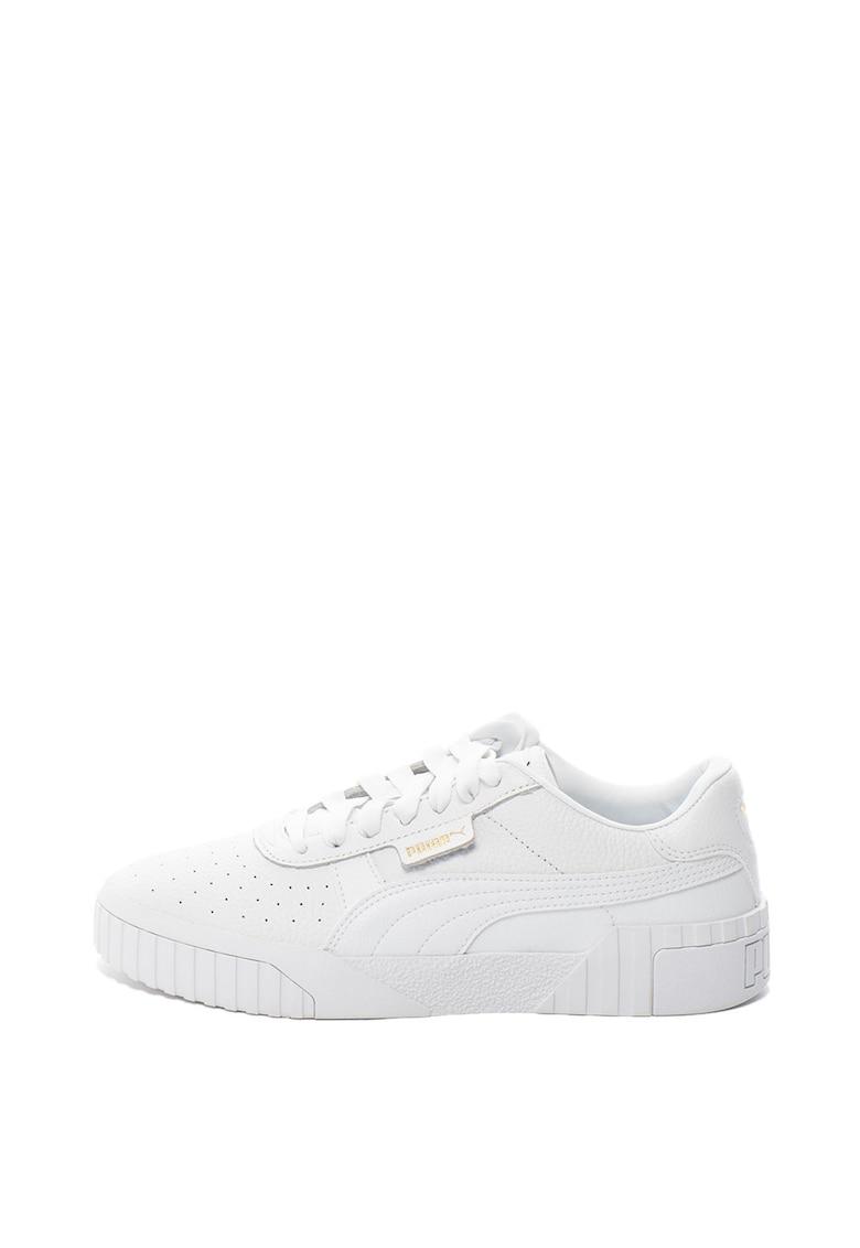 Pantofi sport de piele cu striatii din material sintetic Cali