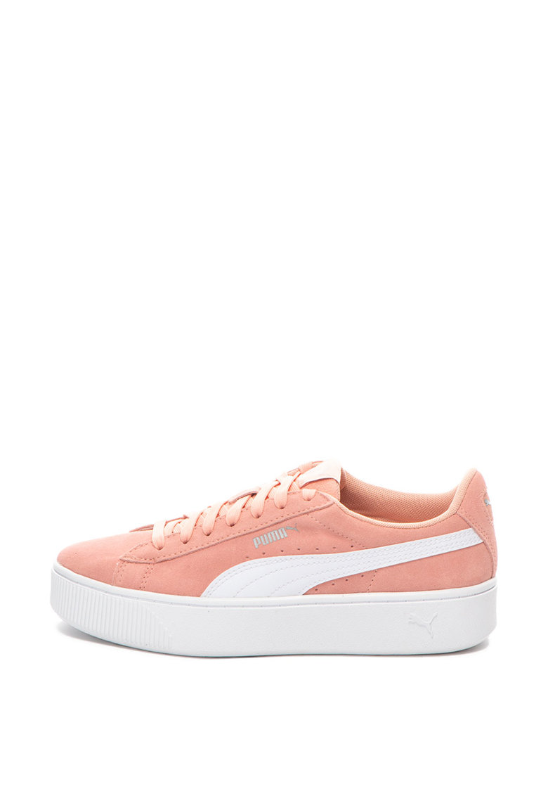 Pantofi sport flatform de piele intoarsa cu branturi cu amortizare Vikky