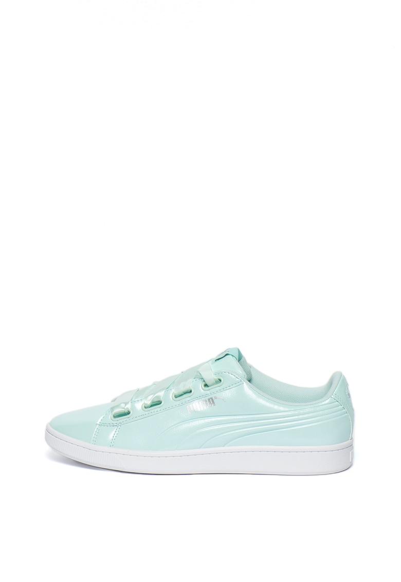 Pantofi sport de piele ecologica cu aspect lacuit Vikky v2