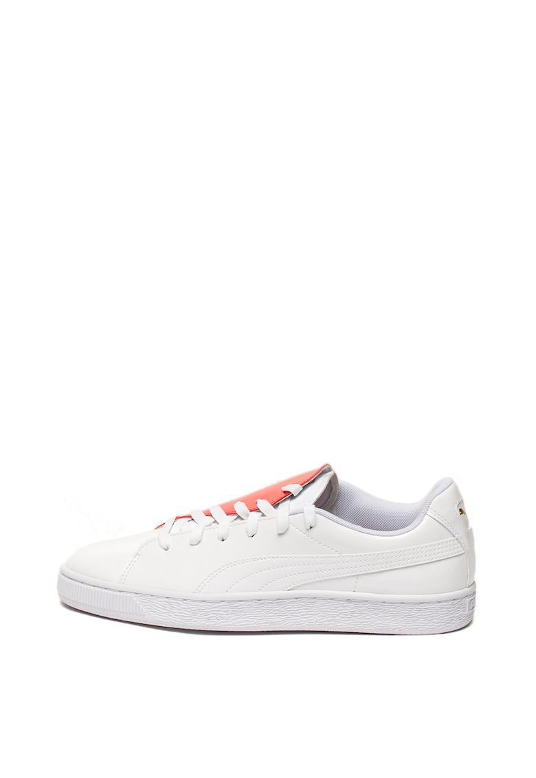 Pantofi sport de piele ecologica cu inchidere asimetrica Basket Crush