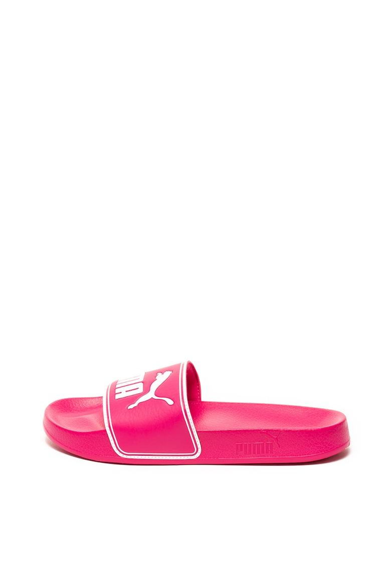 Papuci de piele ecologica Leadcat
