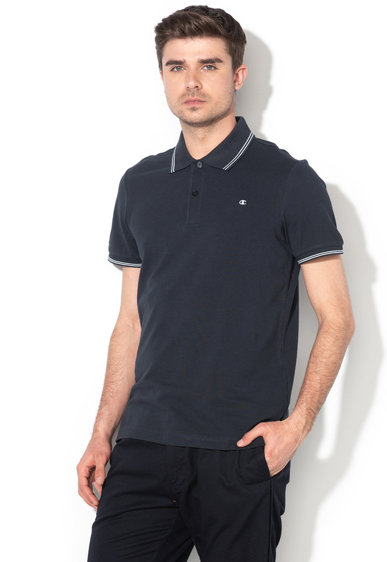 Tricou polo regular fit - din material pique